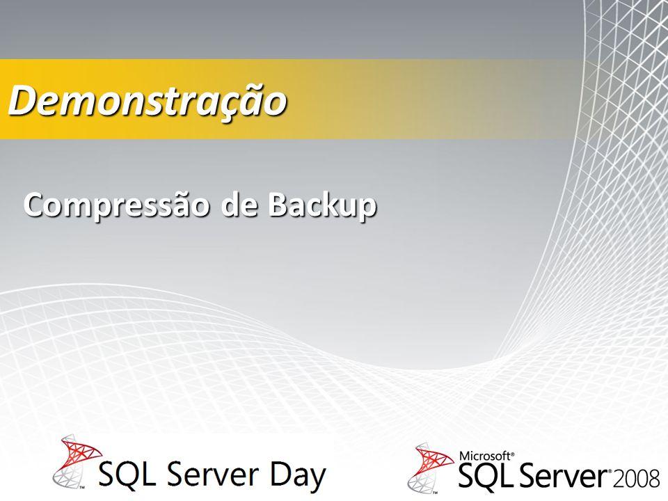 Compressão de Backup Demonstração