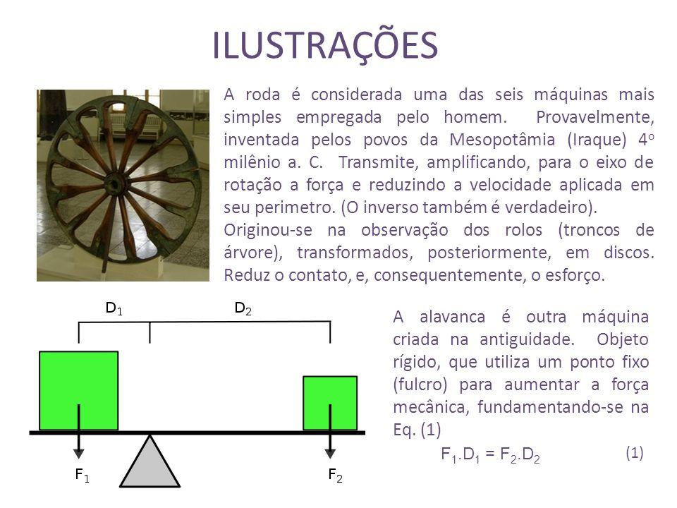 ILUSTRAÇÕES A roda é considerada uma das seis máquinas mais simples empregada pelo homem.