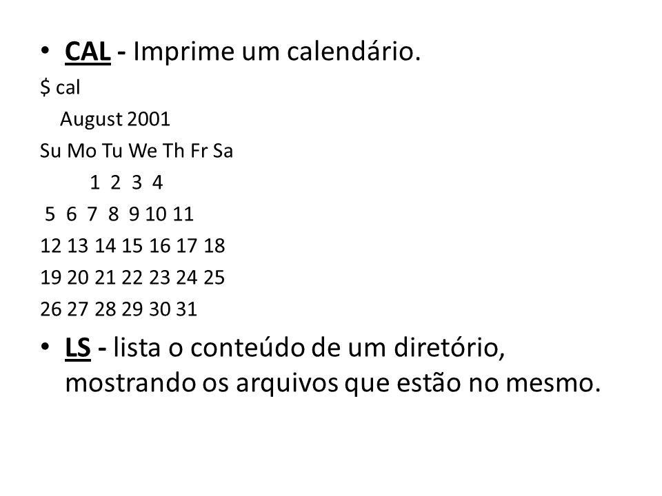 CAL - Imprime um calendário.