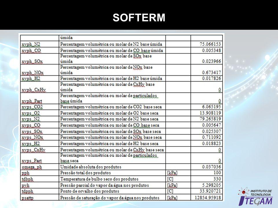 SOFTERM Propriedades termodinâmicas dos gases