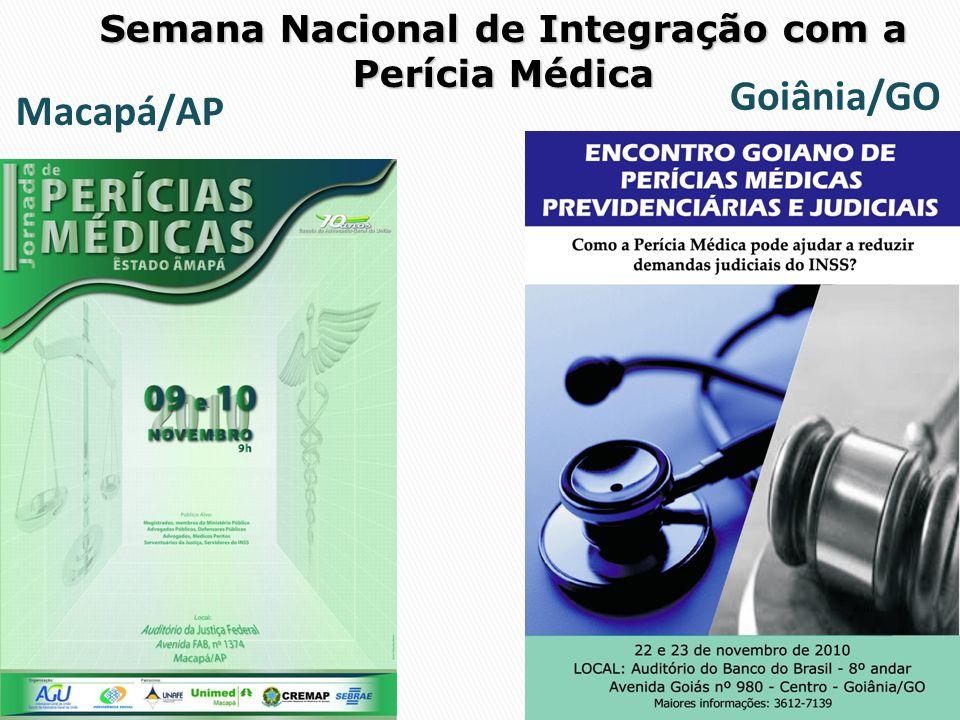 Semana Nacional de Integração com a Perícia Médica Goiânia/GO Macapá/AP