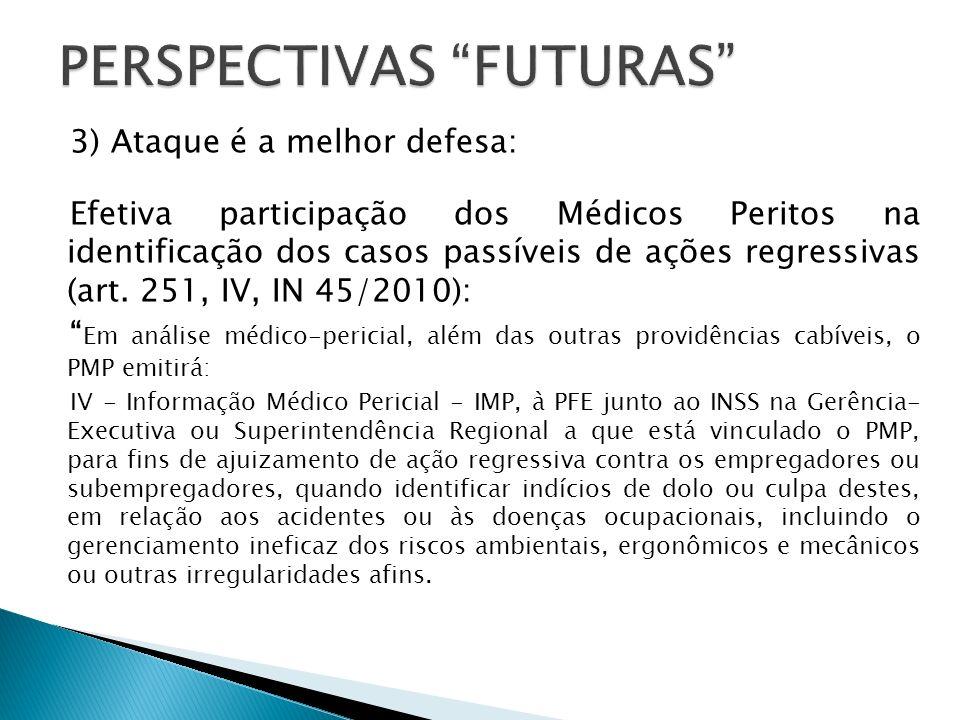 3) Ataque é a melhor defesa: Efetiva participação dos Médicos Peritos na identificação dos casos passíveis de ações regressivas (art.