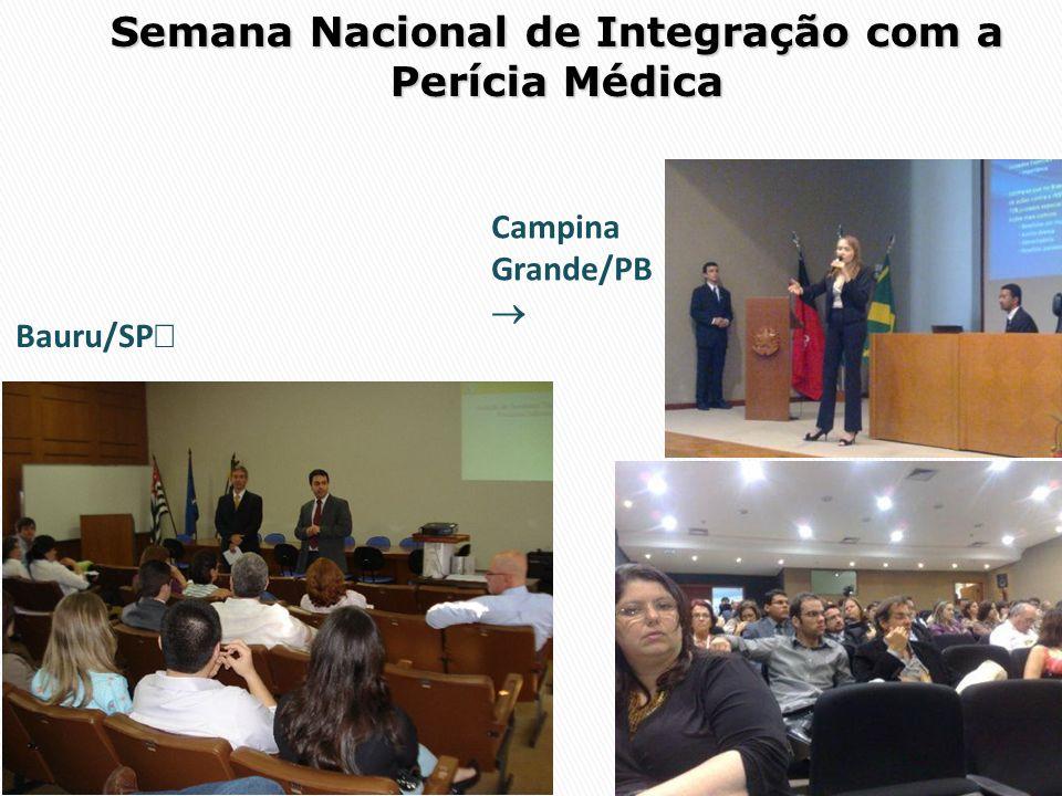 Semana Nacional de Integração com a Perícia Médica Bauru/SP Campina Grande/PB