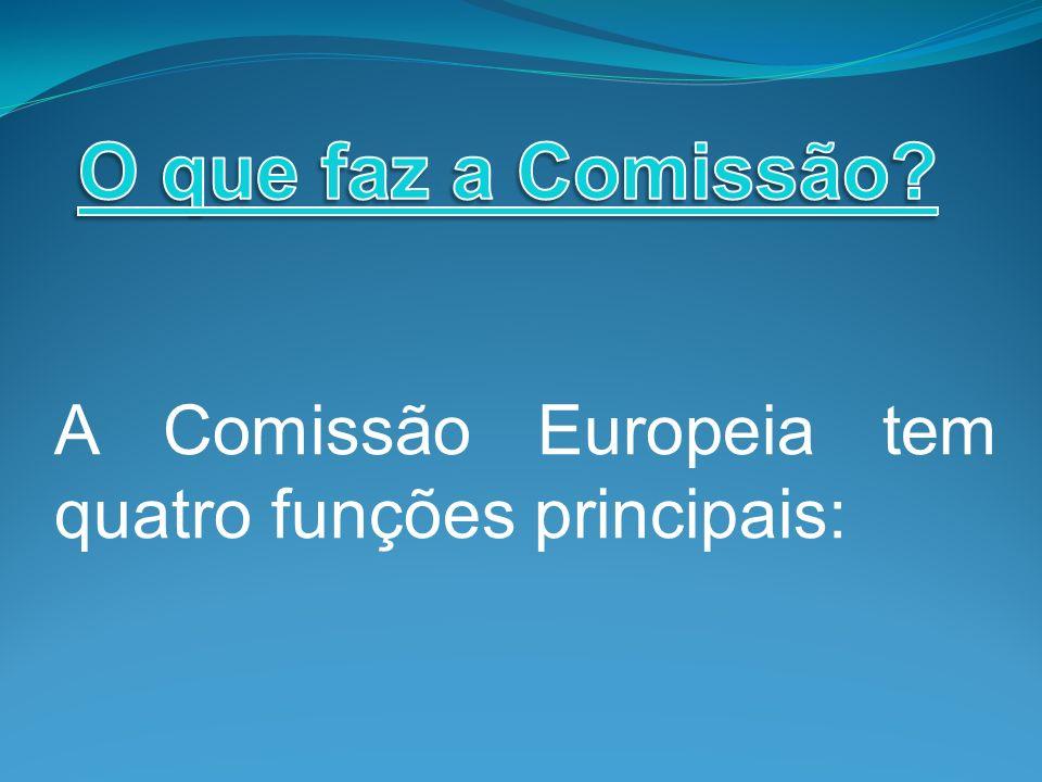 A Comissão Europeia tem quatro funções principais: