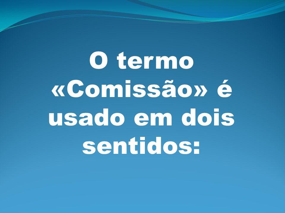 O termo «Comissão» é usado em dois sentidos: