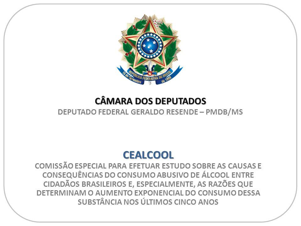 CEALCOOL PRESIDENTE - DEPUTADO FEDERAL GERALDO RESENDE / PMDB-MS Fonte: CNM e Unifesp ANTES E DEPOIS DAS DROGAS (CANTORA AMY WINEHOUSE)