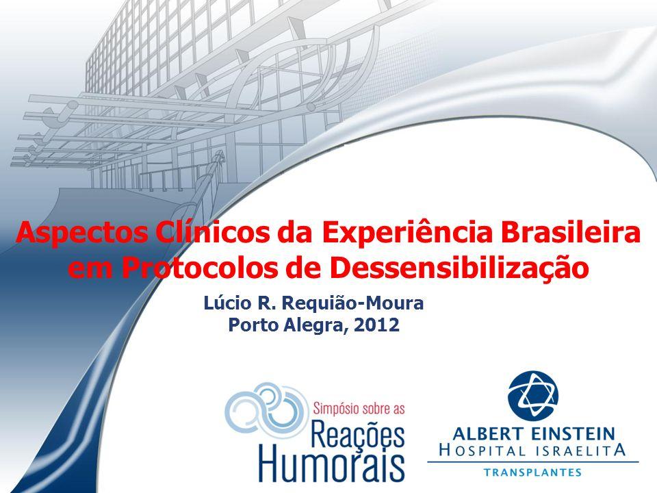 Aspectos Clínicos da Experiência Brasileira em Protocolos de Dessensibilização Lúcio R. Requião-Moura Porto Alegra, 2012