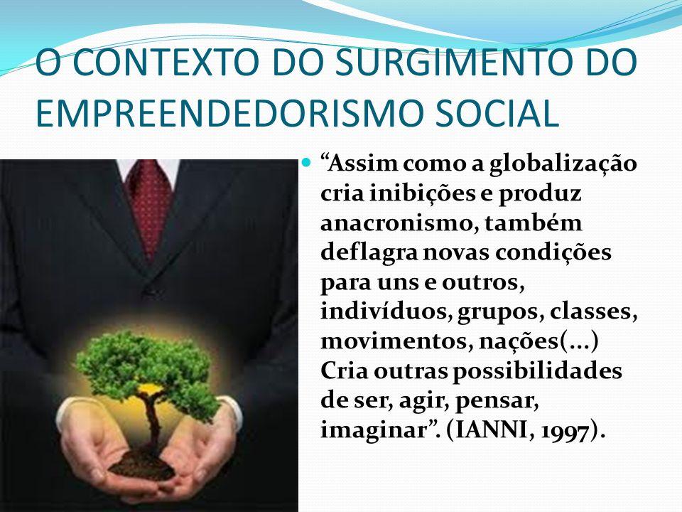 O CONTEXTO DO SURGIMENTO DO EMPREENDEDORISMO SOCIAL Assim como a globalização cria inibições e produz anacronismo, também deflagra novas condições par