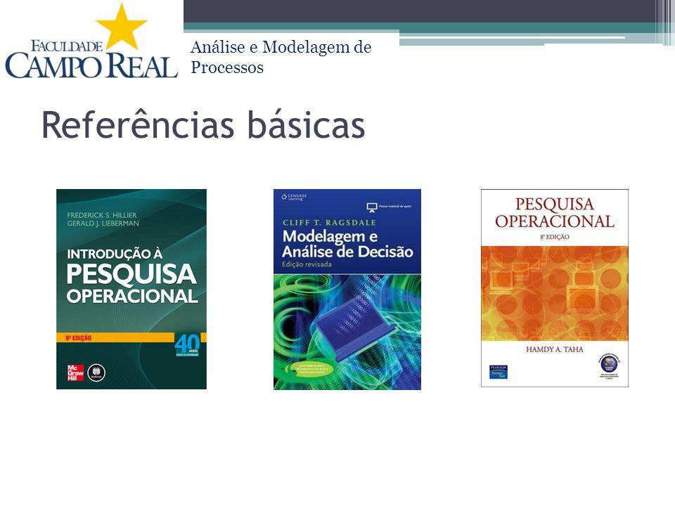 Análise e Modelagem de Processos Referências básicas