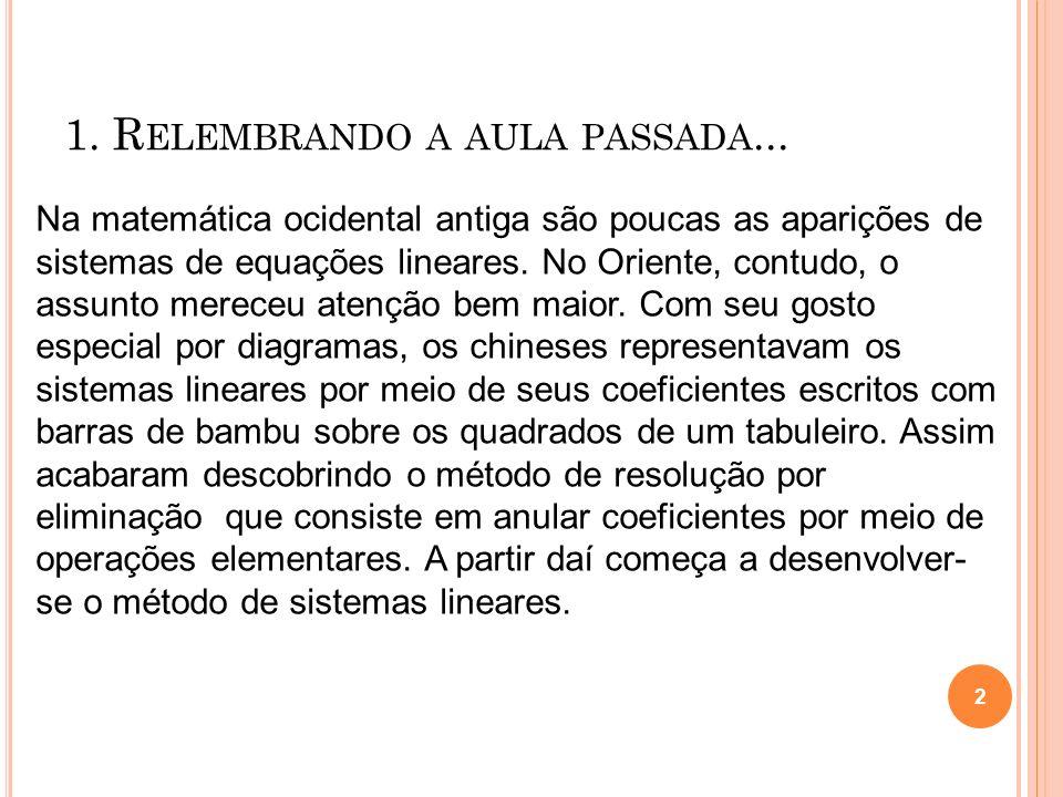 1.R ELEMBRANDO A AULA PASSADA...