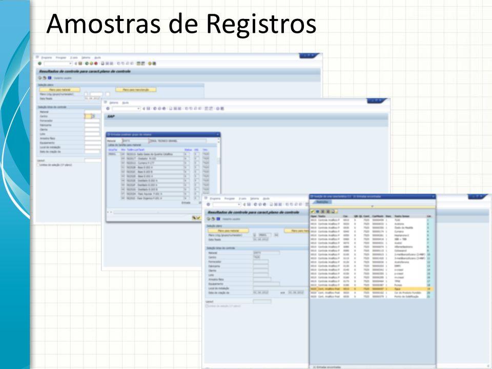 Amostras de Registros