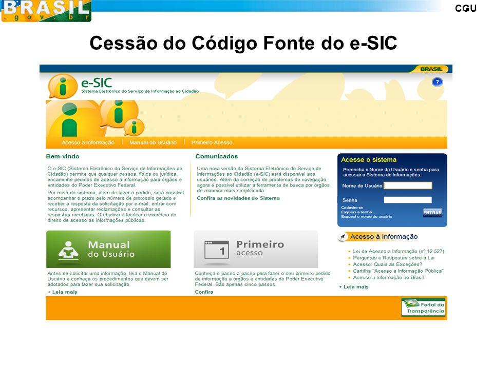 CGU Cessão do Código Fonte do e-SIC