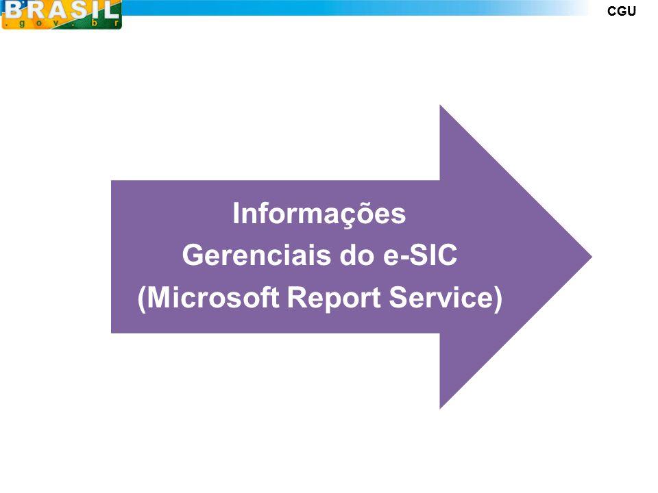 CGU Informações Gerenciais do e-SIC (Microsoft Report Service)