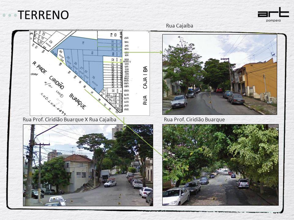 TERRENO Rua Cajaíba Rua Prof. Ciridião BuarqueRua Prof. Ciridião Buarque X Rua Cajaíba