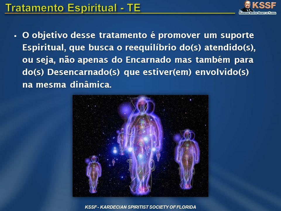 O objetivo desse tratamento é promover um suporte Espiritual, que busca o reequilíbrio do(s) atendido(s), ou seja, não apenas do Encarnado mas também