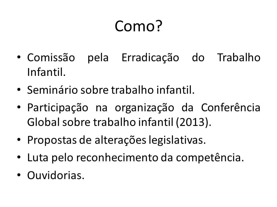 Como.Comissão pela Erradicação do Trabalho Infantil.