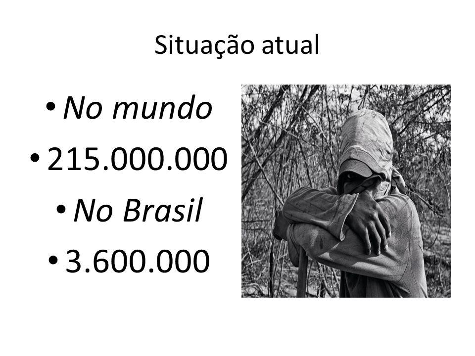 Situação atual No mundo 215.000.000 No Brasil 3.600.000