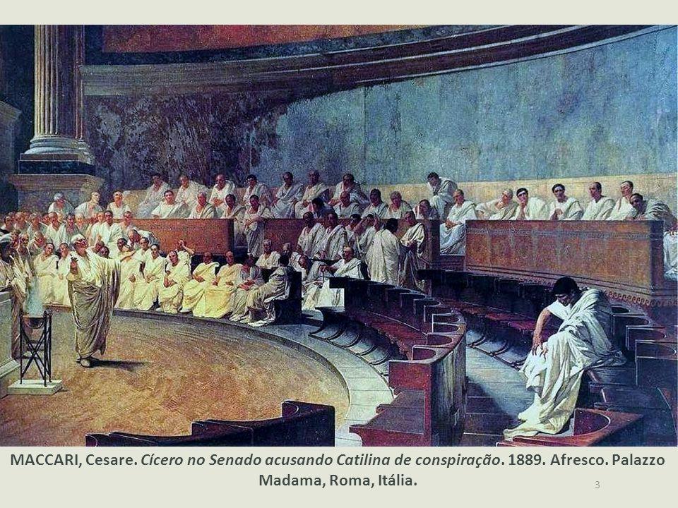 Primeiras Ideias A imagem remete à instituição política mais importante da civilização romana, o senado. Os romanos davam grande importância à ativida