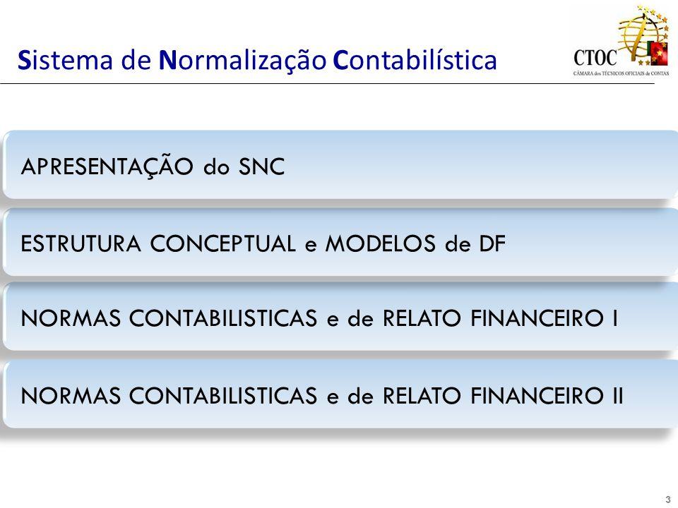 3 NORMAS CONTABILISTICAS e de RELATO FINANCEIRO I Sistema de Normalização Contabilística ESTRUTURA CONCEPTUAL e MODELOS de DF APRESENTAÇÃO do SNC NORM