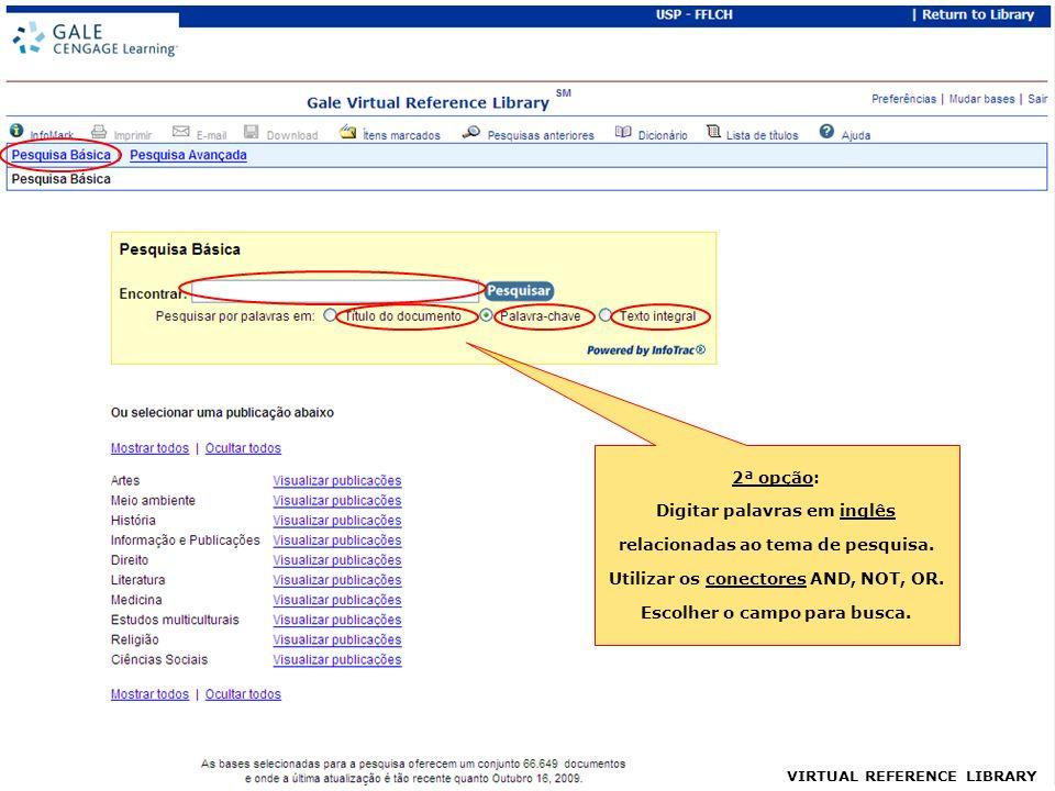 VIRTUAL REFERENCE LIBRARY Acesso ao texto em formato PDF Salvar Imprimir Busca dentro do documento
