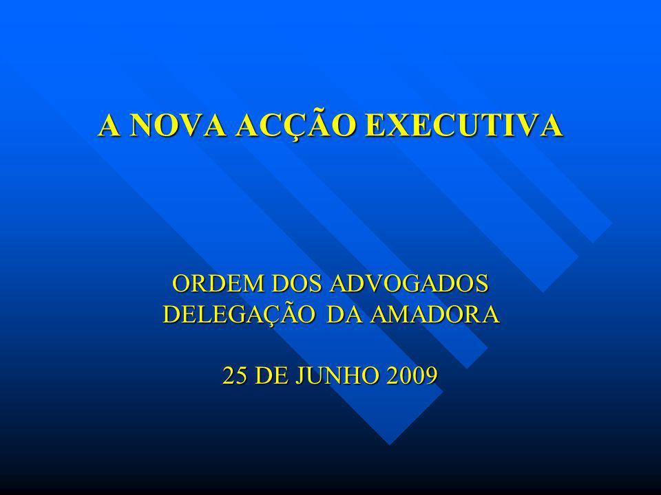 A NOVA ACÇÃO EXECUTIVA ORDEM DOS ADVOGADOS DELEGAÇÃO DA AMADORA 25 DE JUNHO 2009