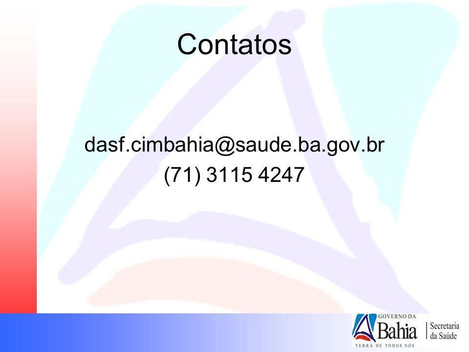 Contatos dasf.cimbahia@saude.ba.gov.br (71) 3115 4247