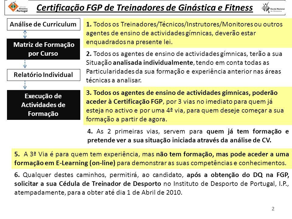 Análise de Curriculum Matriz de Formação por Curso 1.