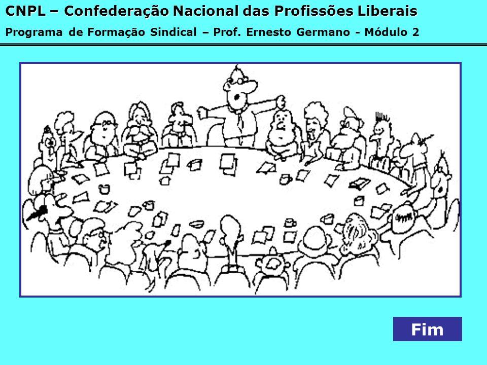 Fim CNPL – Confederação Nacional das Profissões Liberais Programa de Formação Sindical – Prof. Ernesto Germano - Módulo 2