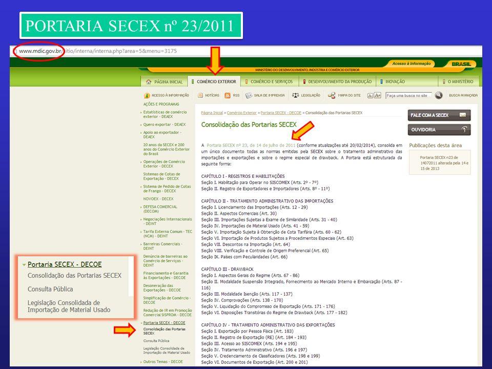 6 PORTARIA SECEX nº 23/2011