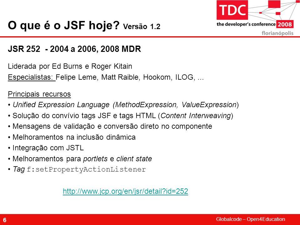 Globalcode – Open4Education 7 JSR314 - 2007 a 2009.