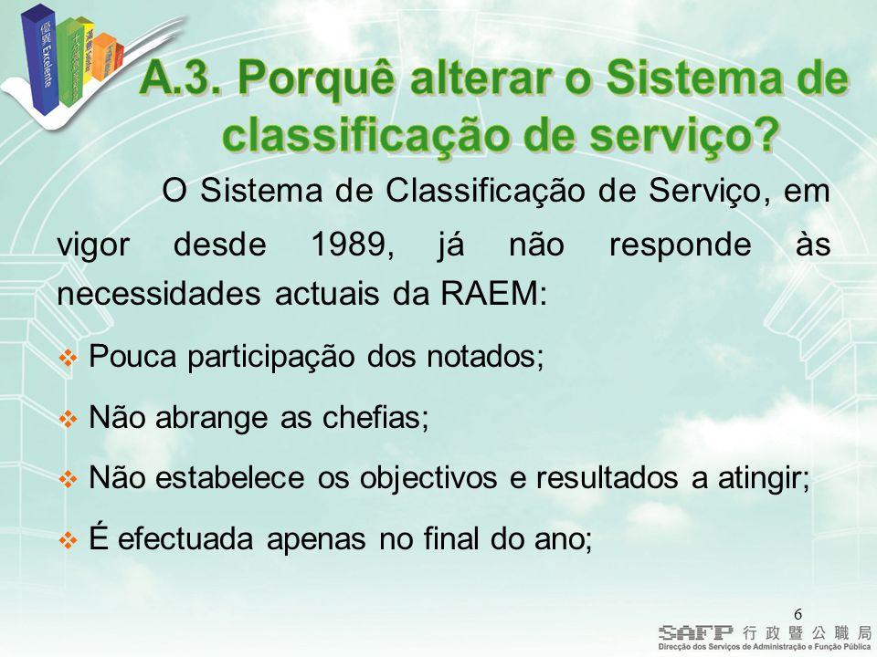 57 Às avaliações que se reportem a serviço total ou parcialmente prestado antes de 1 de Janeiro de 2005 é aplicável o disposto nos artigos 161.º a 173.º do ETAPM.