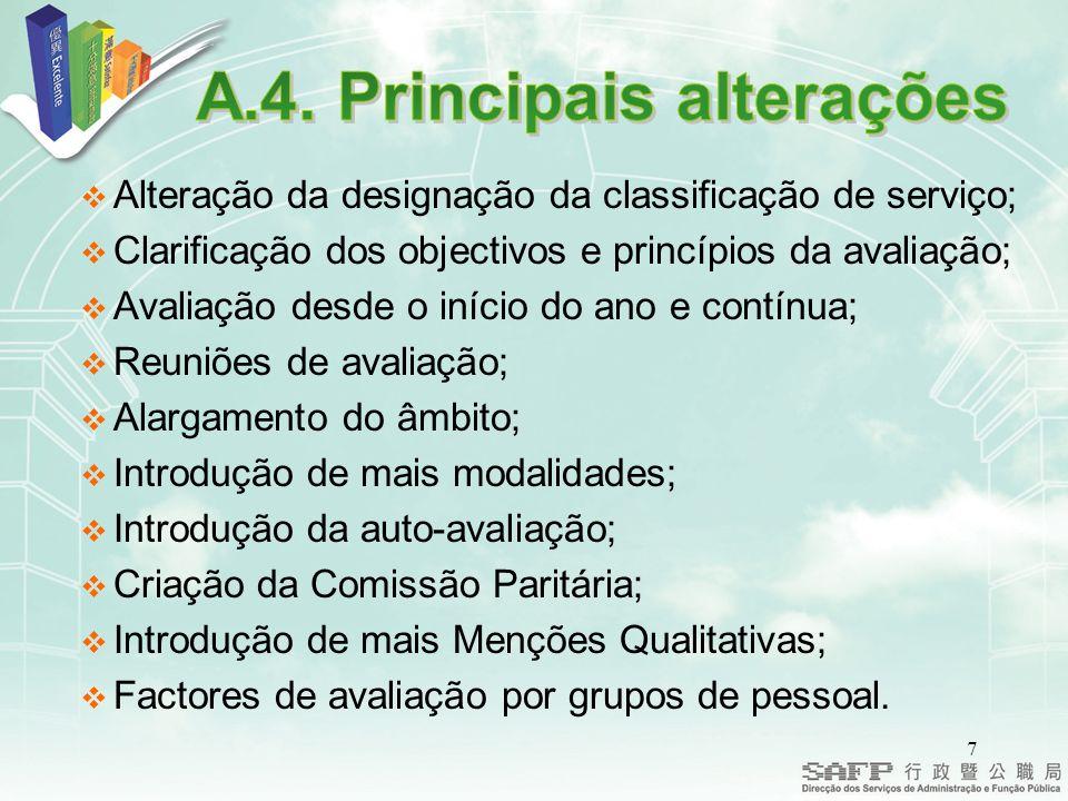 28 A avaliação do desempenho expressa-se nas fichas de notação.