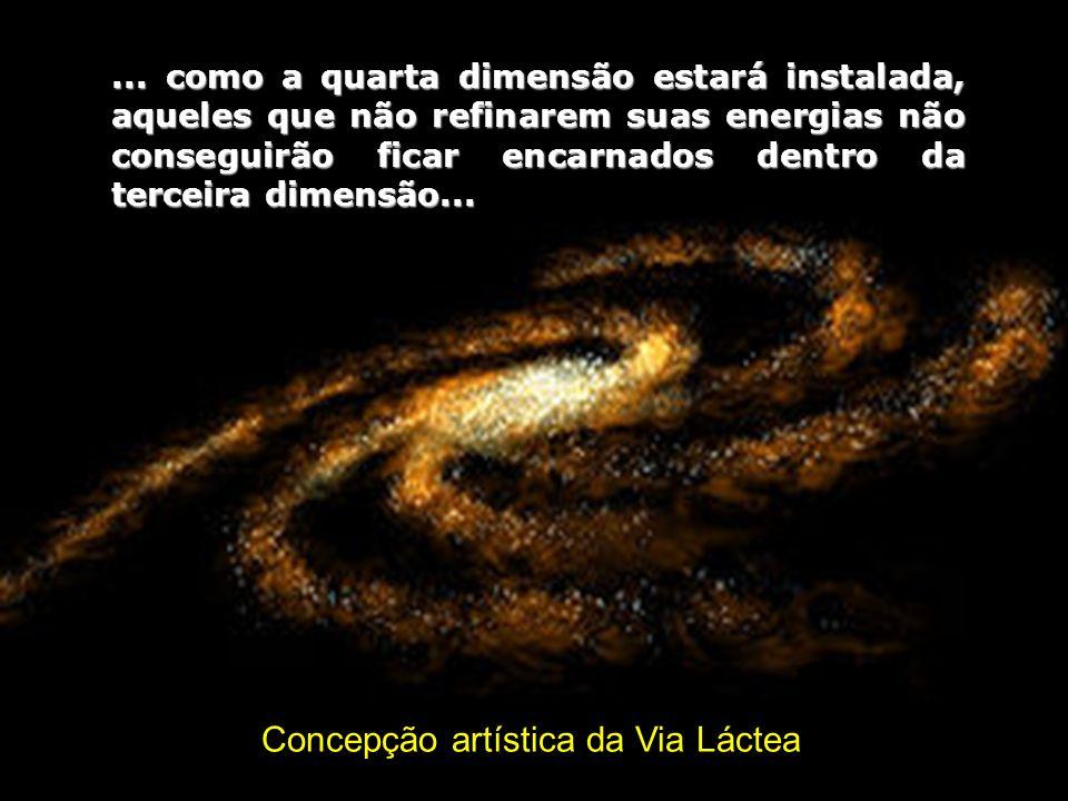 Concepção artística da Via Láctea...