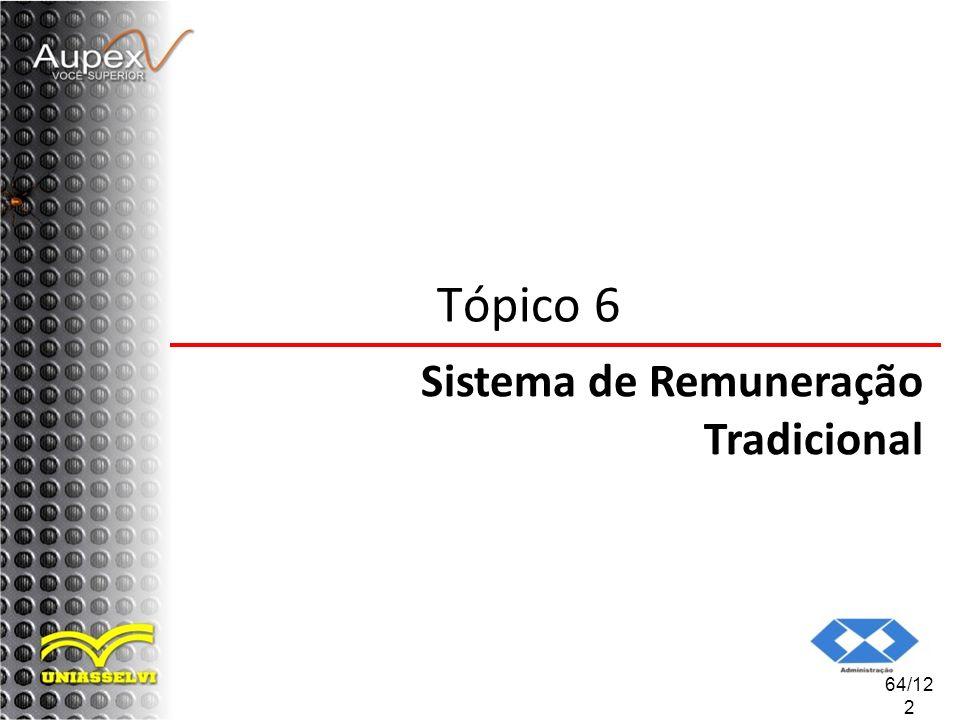 64/12 2 Tópico 6 Sistema de Remuneração Tradicional