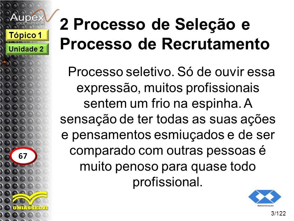 2 Processo de Seleção e Processo de Recrutamento Processo seletivo. Só de ouvir essa expressão, muitos profissionais sentem um frio na espinha. A sens