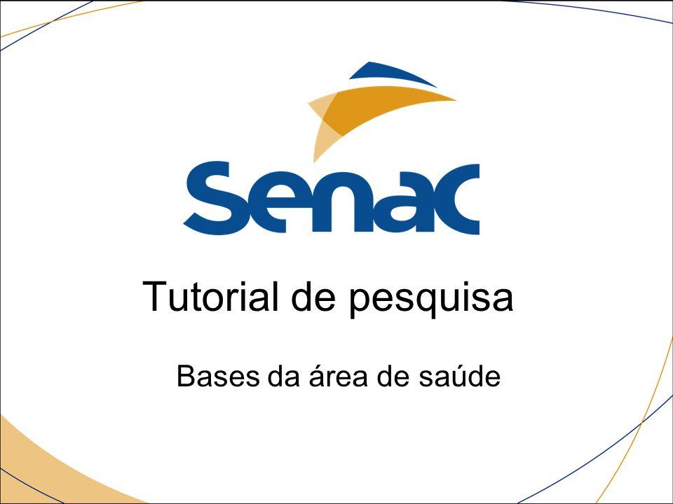 Pesquisando nas bases eletrônicas do SENAC Procure na testeira o link: Acione e irá abrir uma janela, procure Acesse o site Acesse para ir até a página da biblioteca.