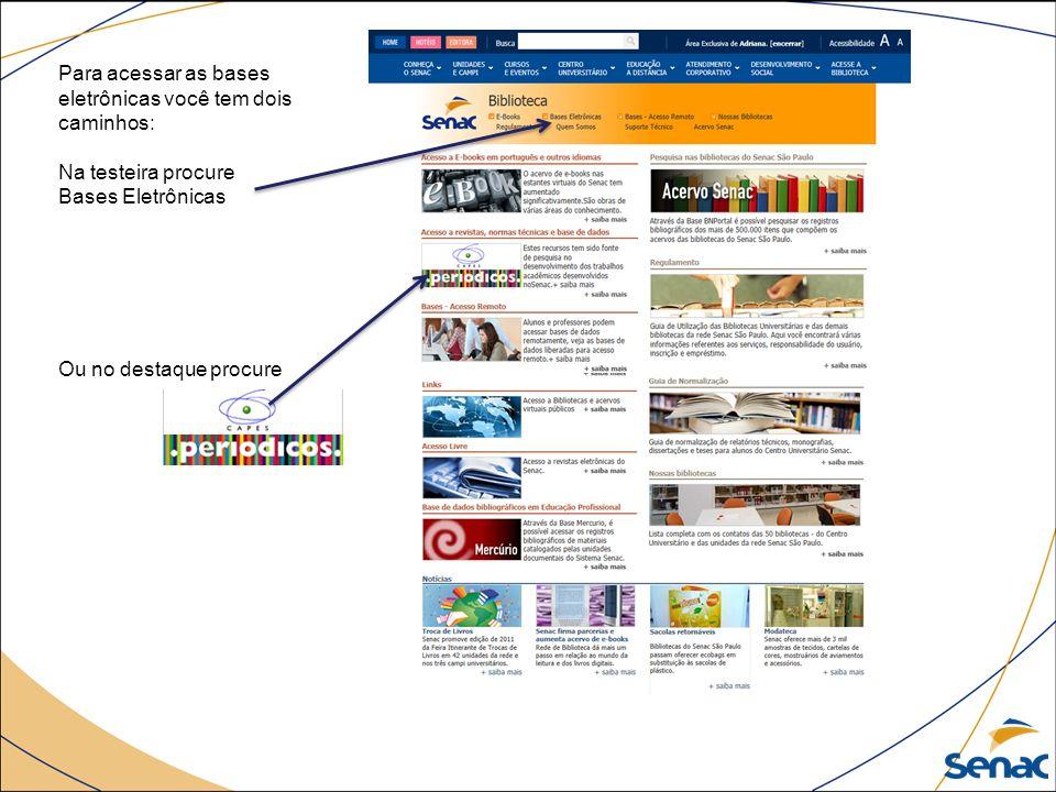 Irá aparecer esta página.Todas as bases são importes para pesquisa.