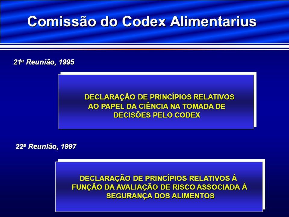Comissão do Codex Alimentarius DECLARAÇÃO DE PRINCÍPIOS RELATIVOS AO PAPEL DA CIÊNCIA NA TOMADA DE DECISÕES PELO CODEX DECLARAÇÃO DE PRINCÍPIOS RELATI