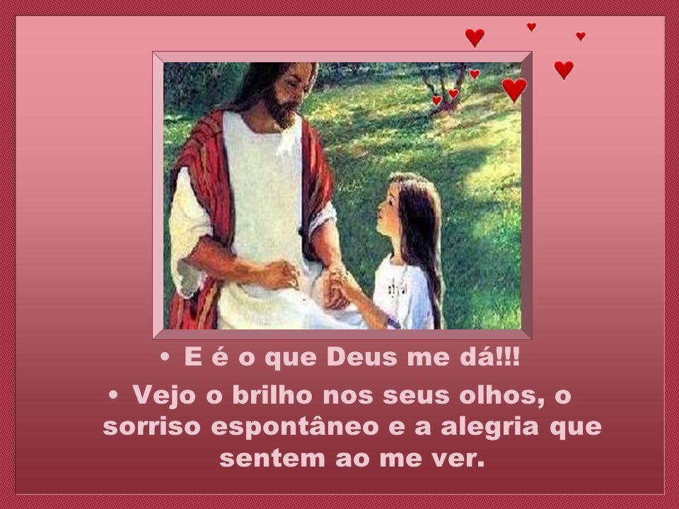 Sei que você está lá e sei que Deus me deu você de presente...