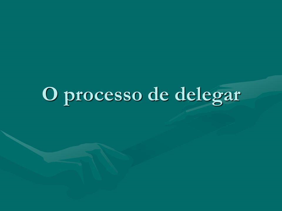 O processo de delegar