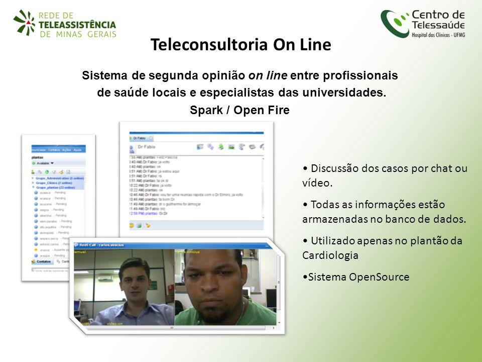 Sistema de segunda opinião on line entre profissionais de saúde locais e especialistas das universidades. Spark / Open Fire Teleconsultoria On Line Di