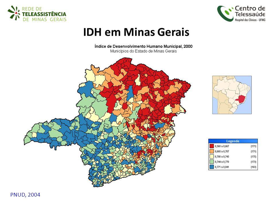 PNUD, 2004 IDH em Minas Gerais