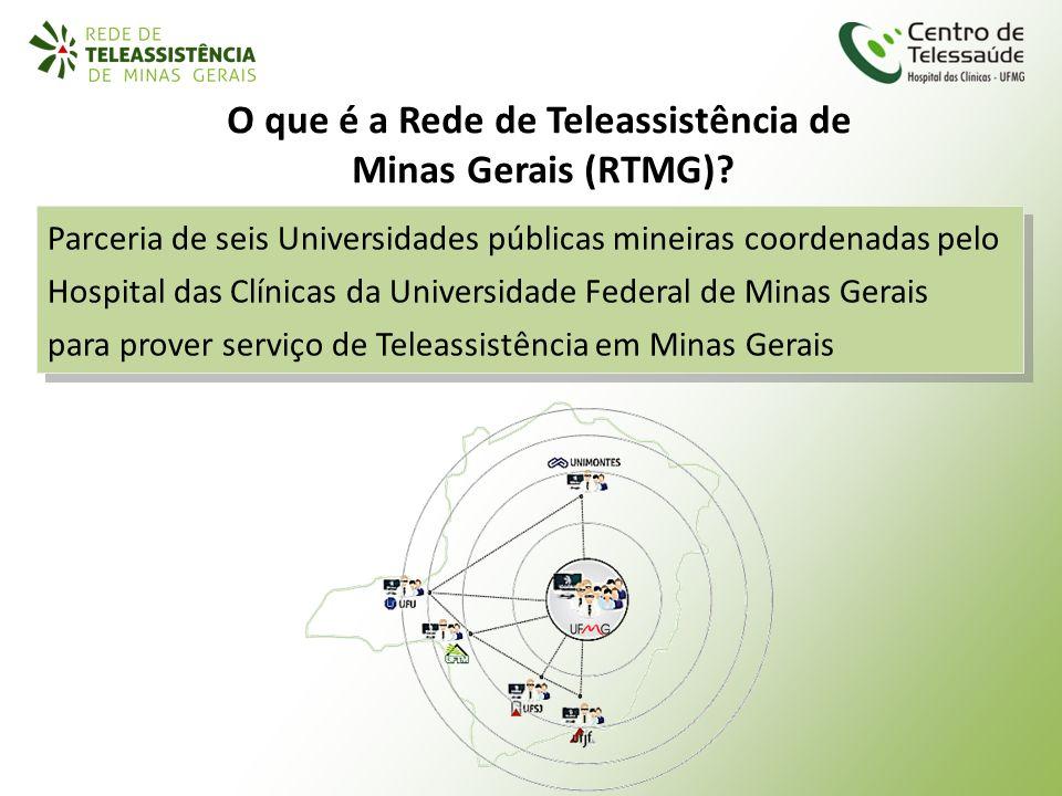 O que é a Rede de Teleassistência de Minas Gerais (RTMG)? Parceria de seis Universidades públicas mineiras coordenadas pelo Hospital das Clínicas da U