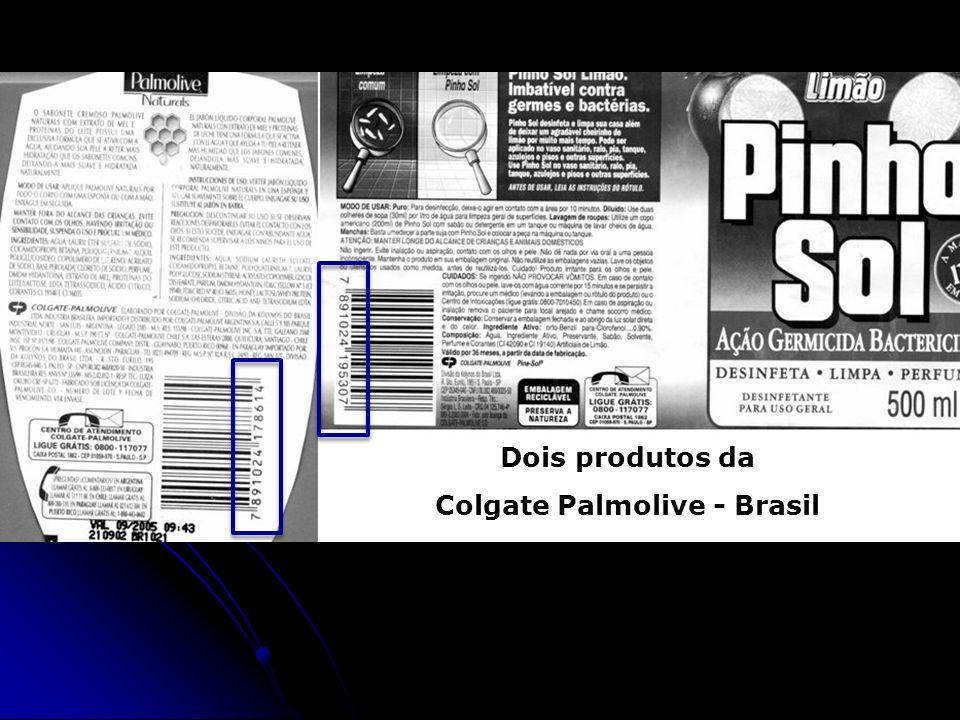 Dois produtos da Colgate Palmolive - Brasil