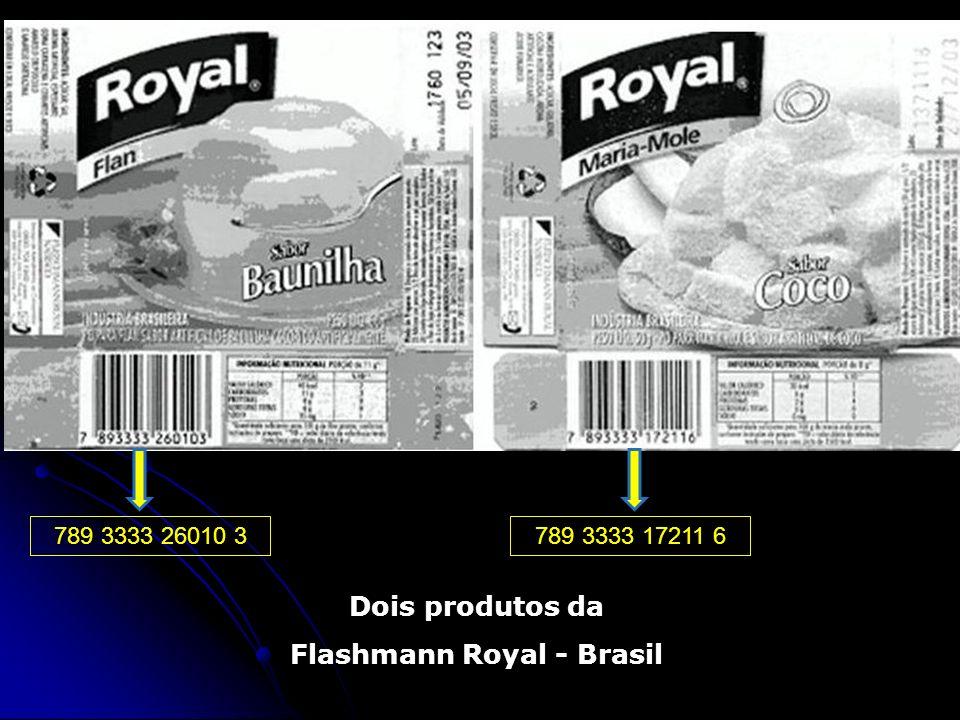 Dois produtos da Flashmann Royal - Brasil 789 3333 26010 3789 3333 17211 6