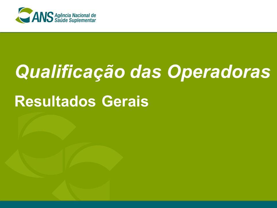 Qualificação das Operadoras Resultados Gerais