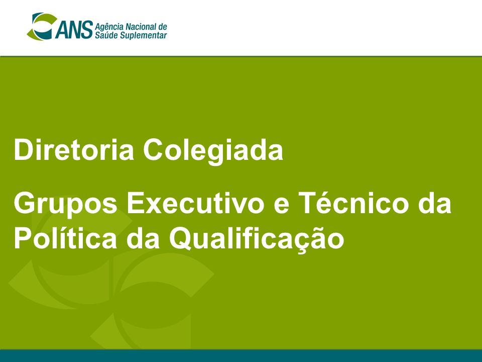 Diretoria Colegiada Grupos Executivo e Técnico da Política da Qualificação
