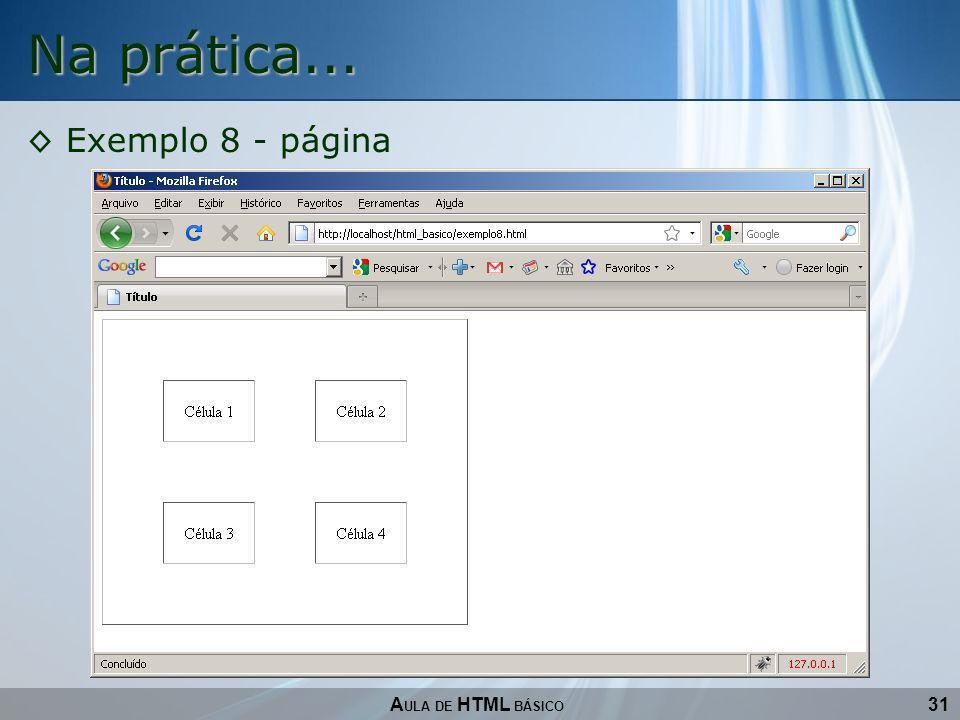31 Na prática... A ULA DE HTML BÁSICO Exemplo 8 - página