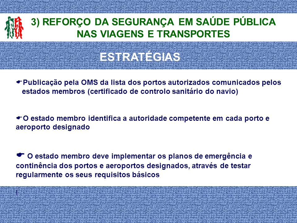 Publicação pela OMS da lista dos portos autorizados comunicados pelos estados membros (certificado de controlo sanitário do navio) O estado membro ide