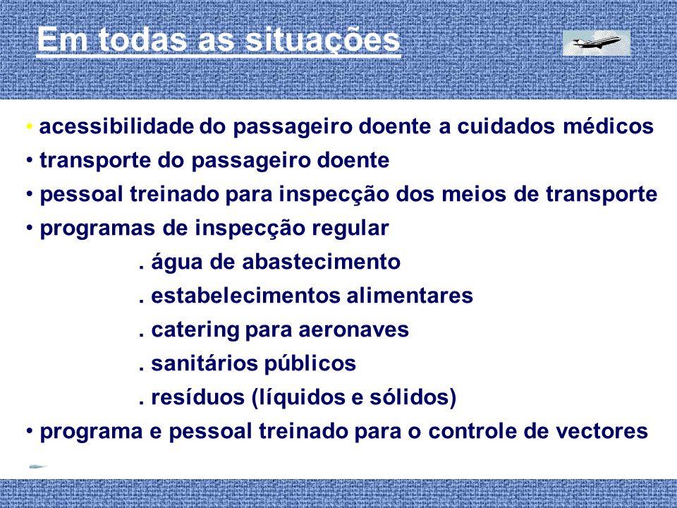 Em todas as situações acessibilidade do passageiro doente a cuidados médicos transporte do passageiro doente pessoal treinado para inspecção dos meios